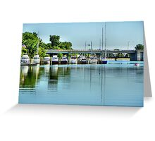 Bay City Marina Greeting Card