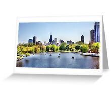 Chicago Paddle Boats Greeting Card