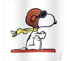 flying snoopy dom Poster