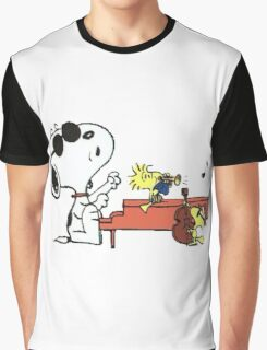 play music group snoopy Graphic T-Shirt