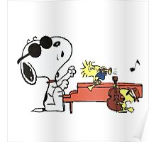 play music group snoopy Poster