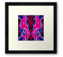 reflexion in blue & pink 002 Framed Print