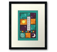 Social {} Framed Print