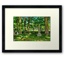 Mt. Repose Cemetary, Montville, Maine Framed Print