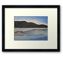 The Calm Water of Akyaka Framed Print