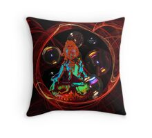 Tara in energy bubbles. Throw Pillow