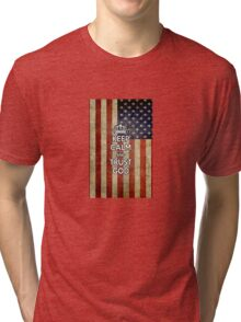 Religious Christian iPhone 6  Case Cover American Flag Tri-blend T-Shirt