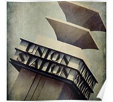 Art Deco Union Station Neon Sign Poster