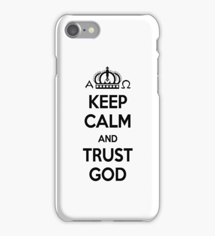 Religious Christian iPhone 6s Case Cover Keep Calm And Trust God White iPhone Case/Skin