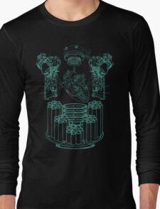 Robot X-Ray Design Long Sleeve T-Shirt