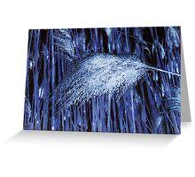 Blue Reeds Greeting Card