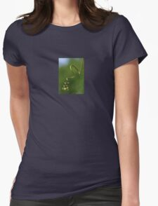 Spring Shaped Passion Flower Tendril Womens Fitted T-Shirt