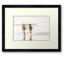 At Play in the Salt Sea Framed Print
