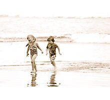At Play in the Salt Sea Photographic Print