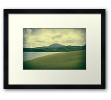 Tropical Island Landscape Framed Print