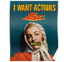 Actions & Words Poster