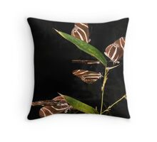 Magical Gathering Of The Zebra Butterflys Throw Pillow