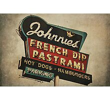 Johnnie's French Dip Vintage/Retro Sign Photographic Print