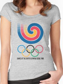 Seoul 1988 Olympics Women's Fitted Scoop T-Shirt