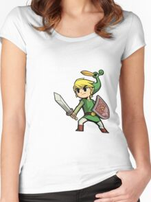 Childhood Destruction (Pokemon, Zelda, Mario) Women's Fitted Scoop T-Shirt
