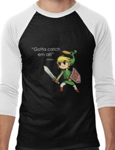 Childhood Destruction (Pokemon, Zelda, Mario) Men's Baseball ¾ T-Shirt
