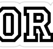 PORK not DORK Sticker