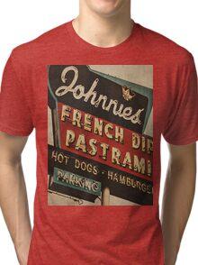 Johnnie's French Dip Vintage/Retro Sign Tri-blend T-Shirt