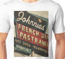 Johnnie's French Dip Vintage/Retro Sign Unisex T-Shirt