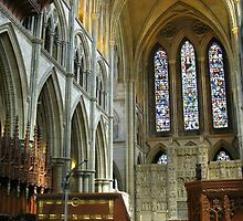 Truro Cathedral, Interior by kathrynsgallery