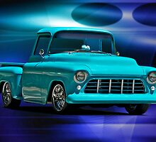 1956 Chevrolet Stepside Pick-Up Truck IV by DaveKoontz