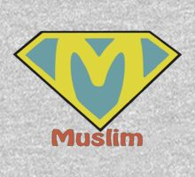 Super Muslim T-Shirt by usubmit2allah