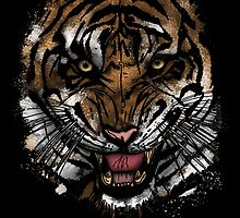 Tiger Face (Signature Design) by Adamzworld