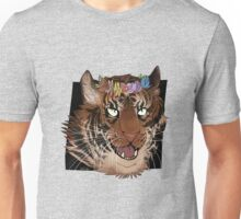 Flower Crown Tiger Unisex T-Shirt