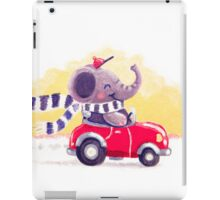 Car Trip - Rondy the Elephant driving his car iPad Case/Skin