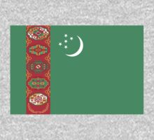 Turkmenistan Flag by cadellin
