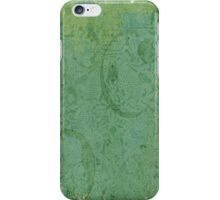 Vintage Faded Turquoise Floral Wallpaper iPhone Case/Skin