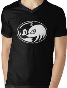 Sonic & Knuckles Monochrome Logo Mens V-Neck T-Shirt