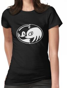 Sonic & Knuckles Monochrome Logo Womens Fitted T-Shirt