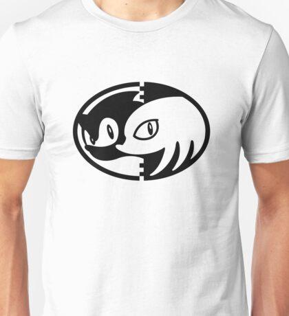 Sonic & Knuckles Monochrome Logo (White shirt) Unisex T-Shirt