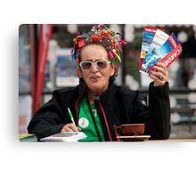 Sales Lady Of Auckland Canvas Print