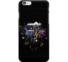 Capturing Colour (Black) iPhone Case/Skin