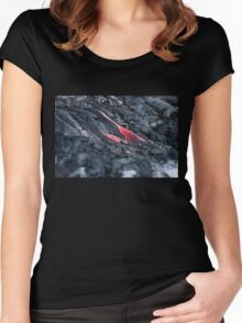 Lava Flow at Kalapana 11 Women's Fitted Scoop T-Shirt