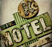 Circle K Motel Vintage Sign by Honey Malek