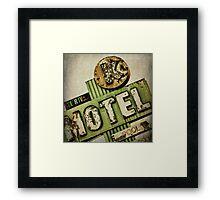 Circle K Motel Vintage Sign Framed Print