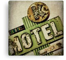 Circle K Motel Vintage Sign Canvas Print