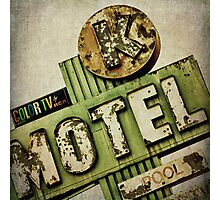 Circle K Motel Vintage Sign Photographic Print