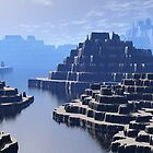 Mysterious Terraced Mountains by perkinsdesigns