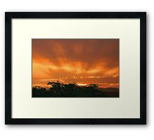 Sunset in the Storm Framed Print