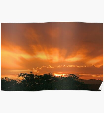 Sunset in the Storm Poster