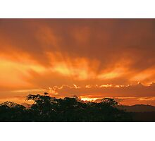 Sunset in the Storm Photographic Print